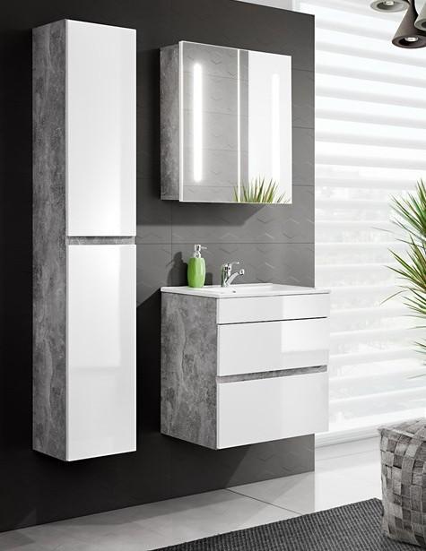 Atelier fehér színű 60 cm fürdőszoba bútor összeállítás (fiókos ...