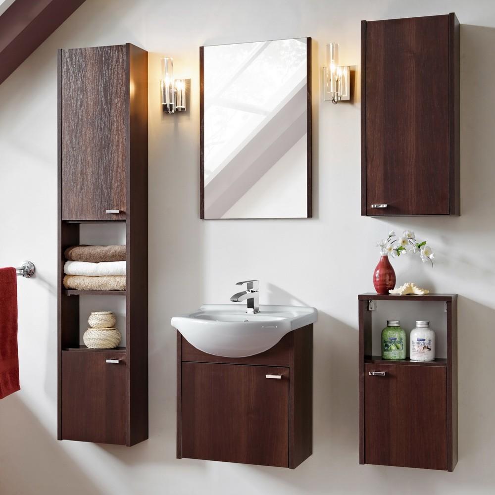 Fine wenge színű fürdőszoba bútor összeállítás - Mediterrán Fürdőszoba