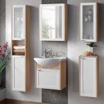Piano white tölgy színű 50 cm fürdőszobai bútor összeállítás