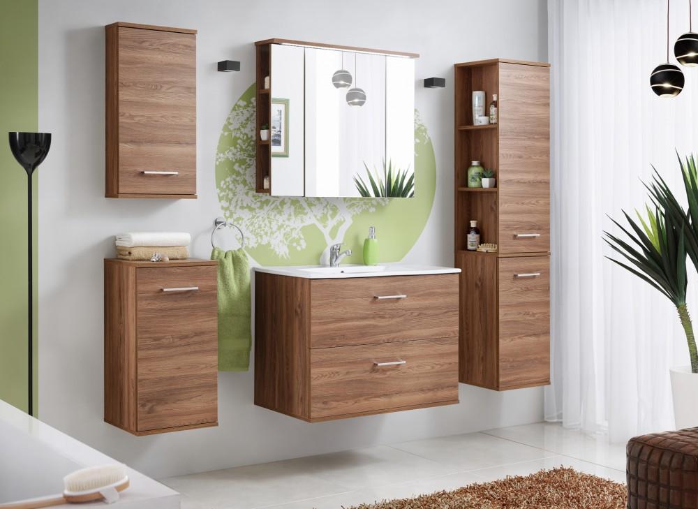 Harmony dió színű 80 cm fürdőszoba bútor összeállítás - Mediterrán ...