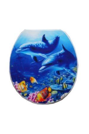 Delfinek 3D MDF wc ülőke